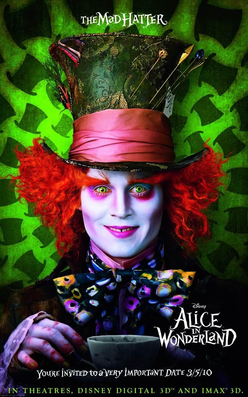 Alice au pays des merveilles 2 : johnny depp et mia wasikowska de